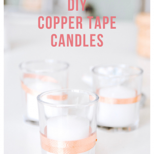 diy copper tape candles pop shop america