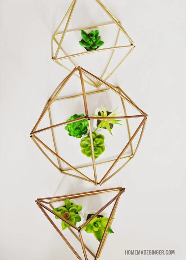 diy himmeli plant accessory made with straws