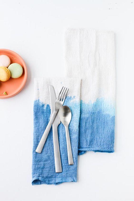 diy indigo dyed napkins tutorial momtastic paper n stitch