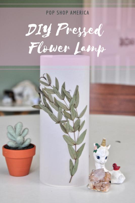 diy pressed flower lamp tutorial pop shop america
