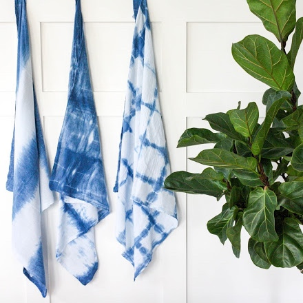 indigo dyed tea towels craft tutorial houses even blog pop shop america