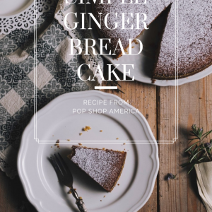 simple gingerbread cake recipe pop shop america