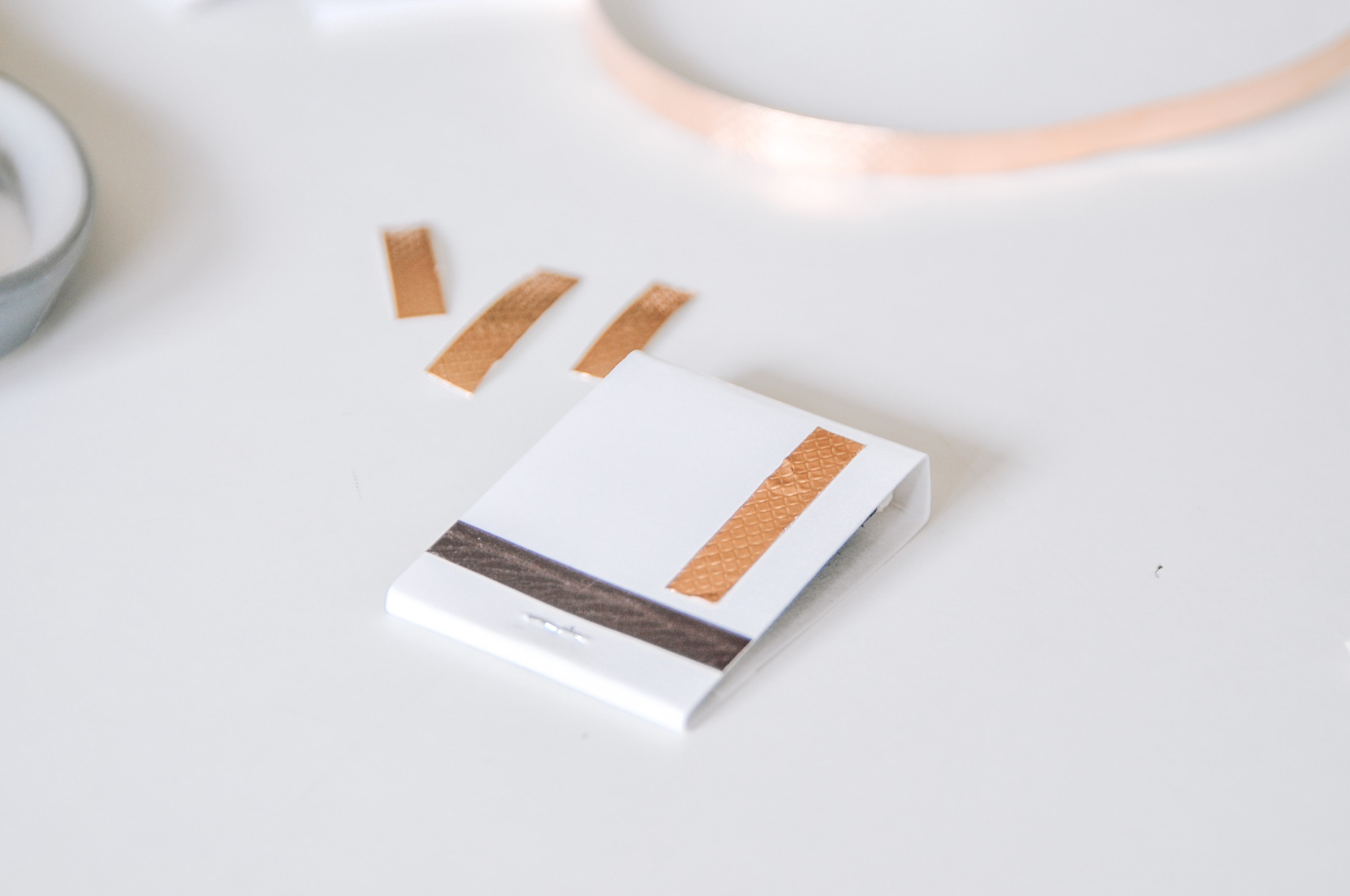 stylish copper tape matchbooks diy craft in style
