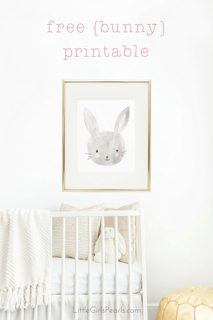 Bunny-Printable from little girls pearls blog easter diy