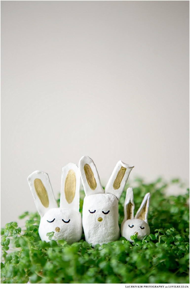 air dry clay easter bunnies lovilee blog