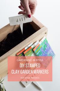 diy stamped clay garden markers pop shop america