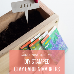 diy stamped clay garden markers pop shop america