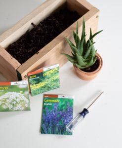 finished garden herb planter box diy tutorial pop shop america