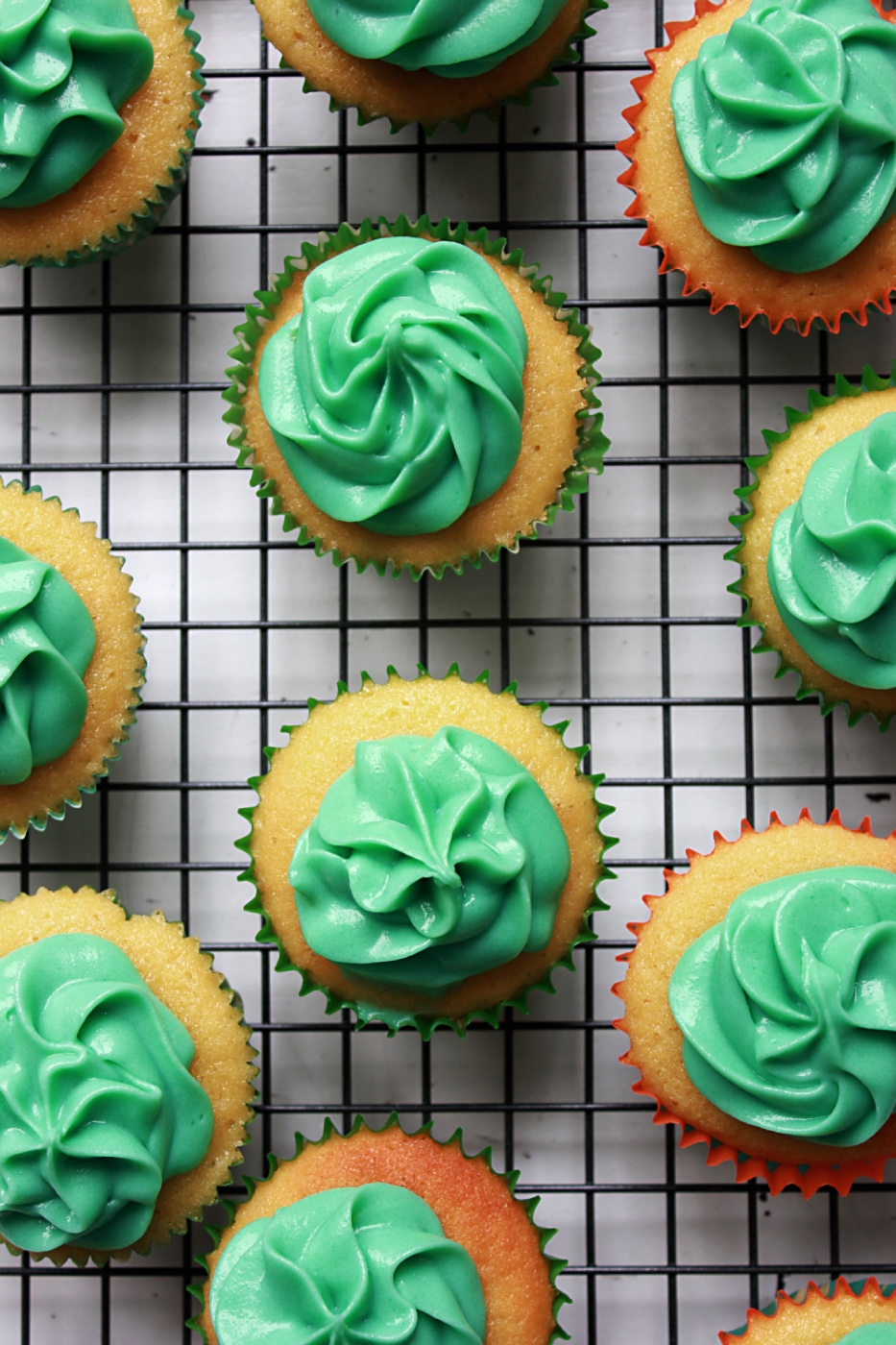 finished st. patrick's day buttermilk cupcakes recipe pop shop america