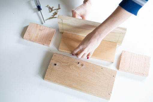 how to add the pieces of wood together planter box diy