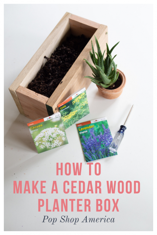 how to make a cedar wood planter box pop shop america