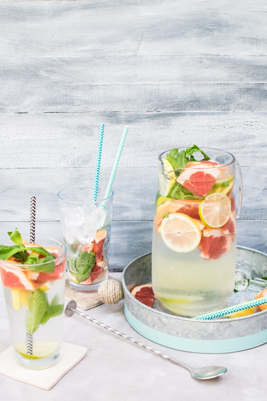 recipe for infused water with grapefruit mint and lemon pop shop america