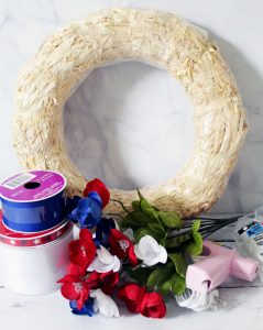 DIY Patriotic Wreath Supplies
