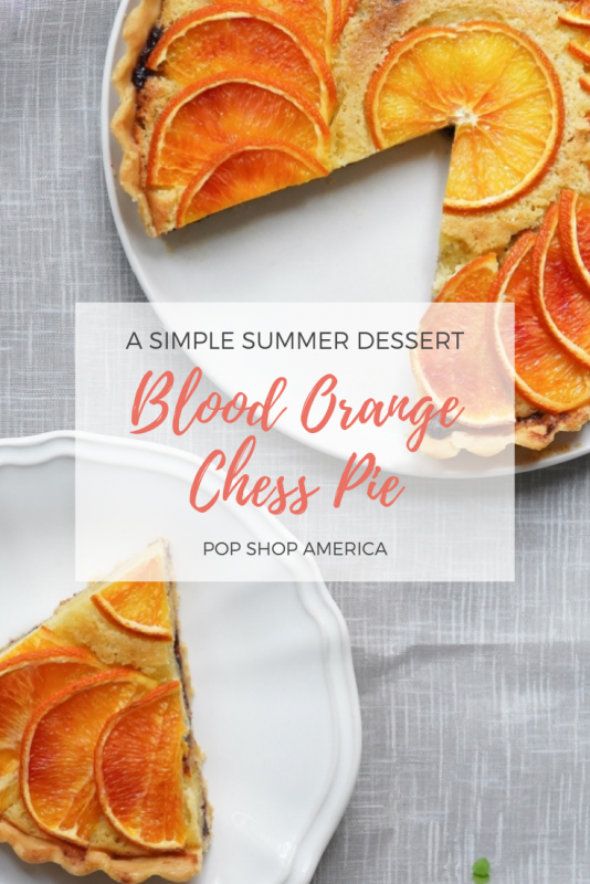 blood orange chess pie recipe pop shop america