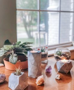 concrete planters concrete tealight holders diy pop shop america
