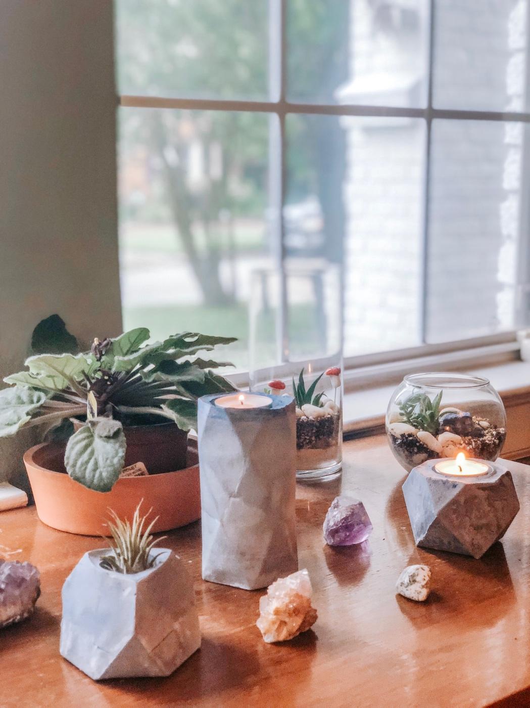 concrete planters concrete tealight holders diy pop shop america