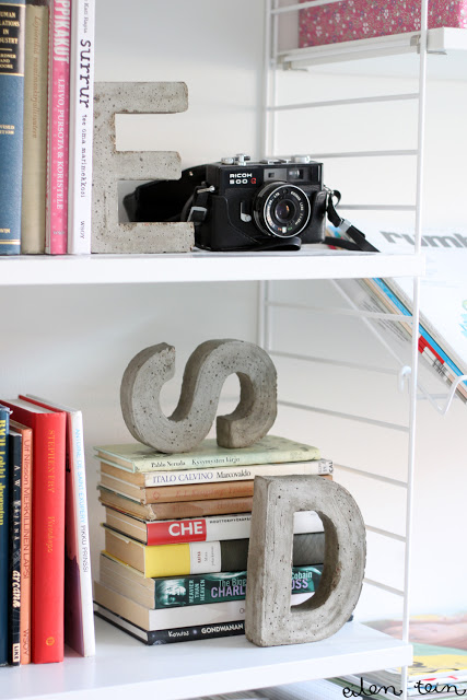 eilen tein concrete letter block decorations diy