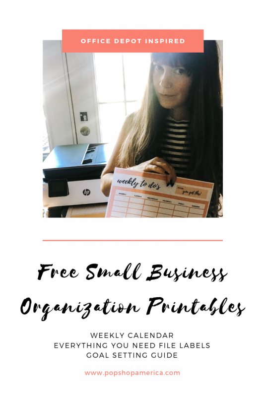 free small business organization printables