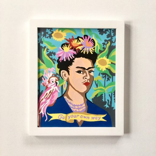 frida kahlo paint by numbers paint set
