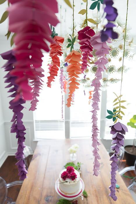 how to make paper flower wisteria abbi kirsten collections pop shop america