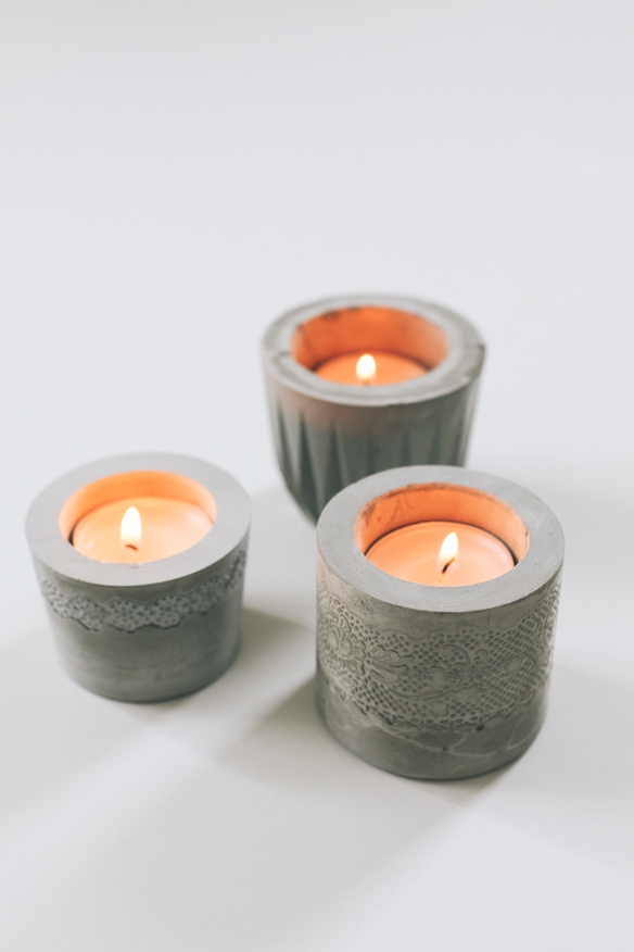 lace cement votive holder diy fellow fellow