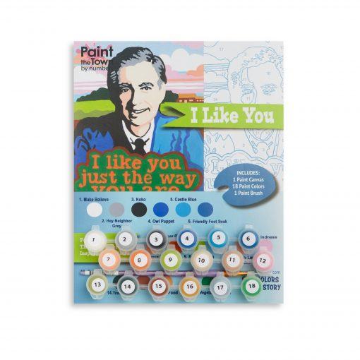 mister rogers paint by numbers art supply set