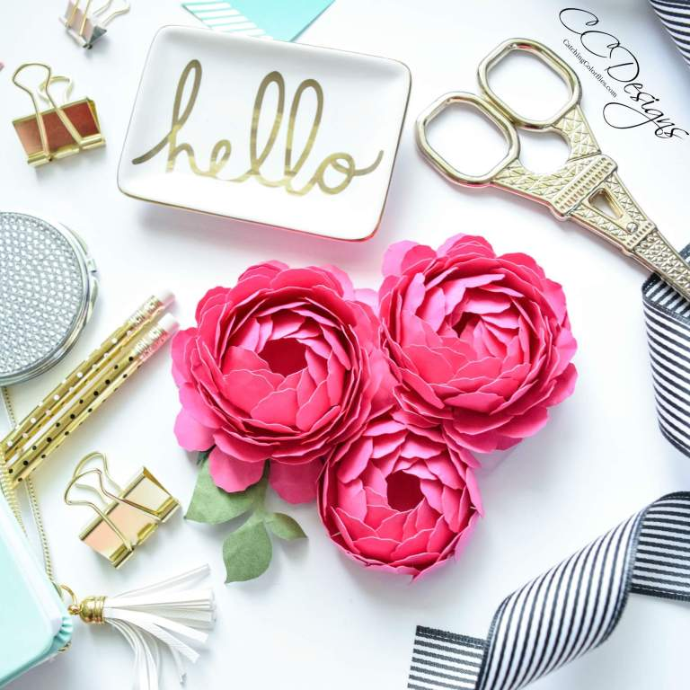 peony-paper flower crafts abbi kirsten collections