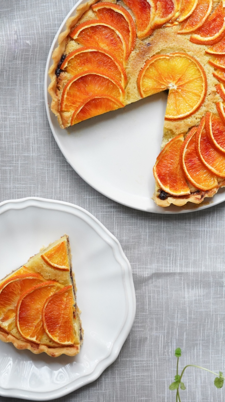 sliced blood orange chess pie recipe pop shop america tall