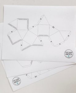 templates to make geometric concrete holders for plants, office, more