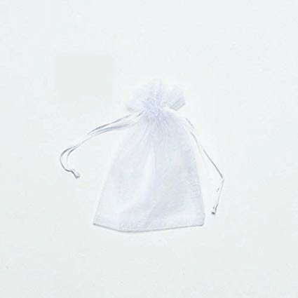 white organza bag to make a lavender drawer sachet