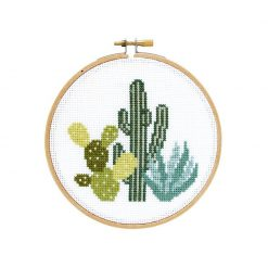 cactus desert cross stitch kit stranded stitch pop shop america