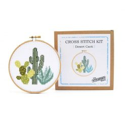 cactus desert cross stitch kit with box pop shop america craft supplies