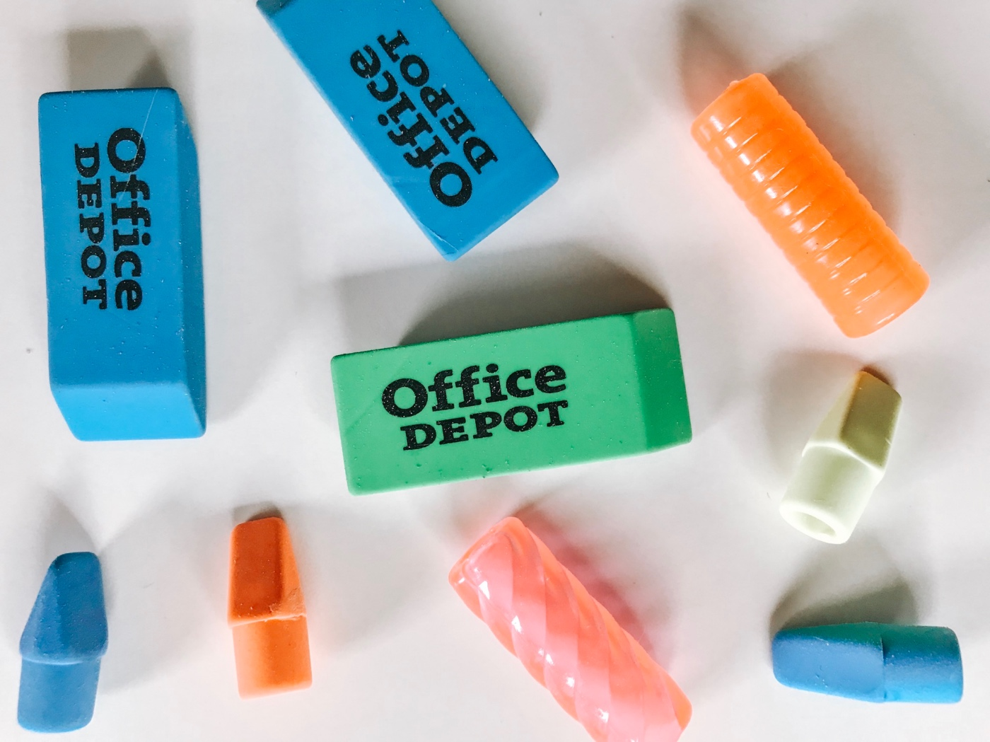 erasers and pencil toppers from office depot pop shop america