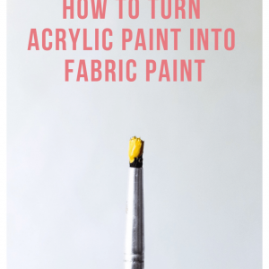 feature how to turn acrylic paint into fabric paint diy tutorial