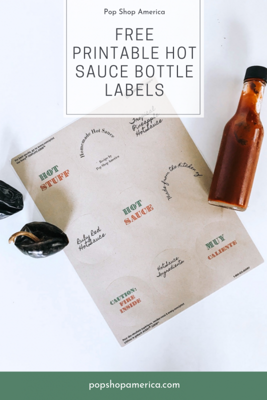 free printable hot sauce bottle labels feature pop shop america