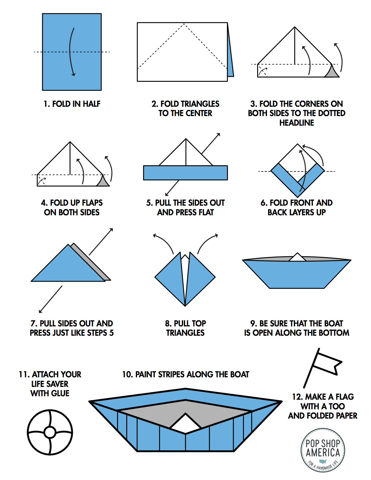 How to Make a Paper Boat - Origami for Kids - Easy Peasy ...