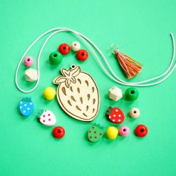 make your own strawberry necklace diy jewelry kit pop shop america