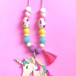 make your own unicorn beaded necklace diy kit