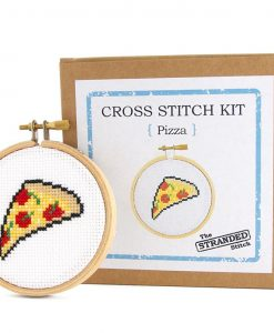 pizza cross stitch embroidery kit pop shop america craft supplies