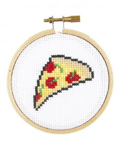 pizza cross stitch kit for beginners pop shop america