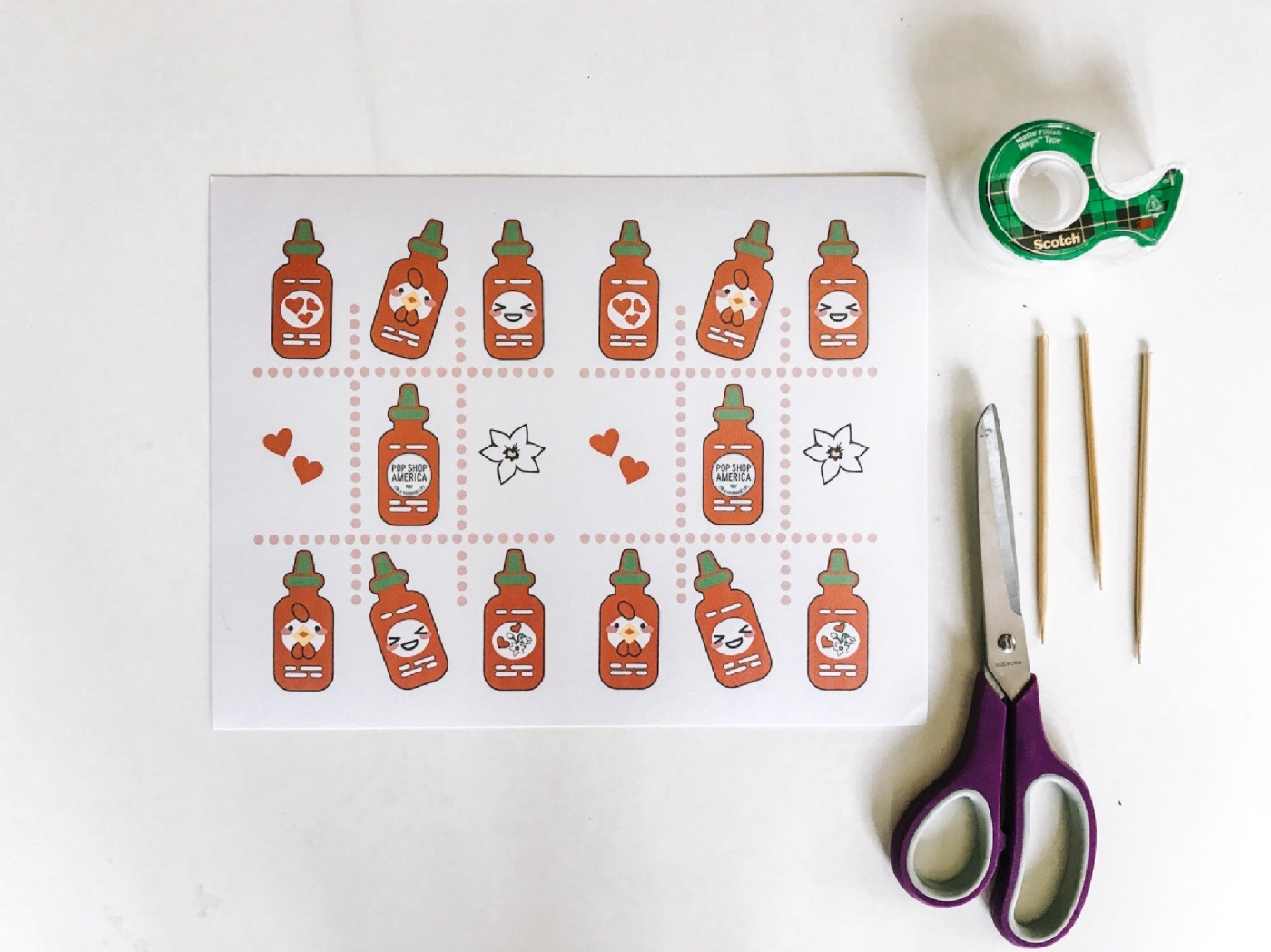 printable hot sauce cupcake toppers pop shop america