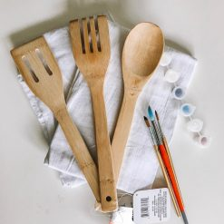 supplies to make diy 4th of july hand painted kitchen utensils