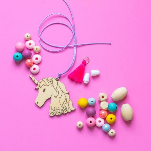 unicorn diy necklace kit hazel and ollie