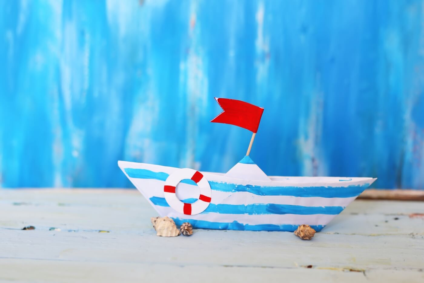 watercolor paper boat diy with flag pop shop america