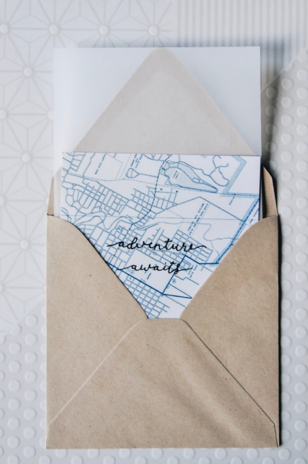 add vellum to the diy map stationery pop shop america