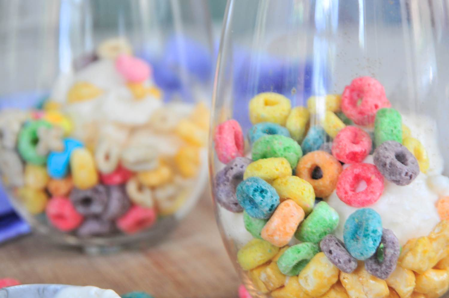 close up of breakfast cereal frozen yogurt parfaits pop shop america