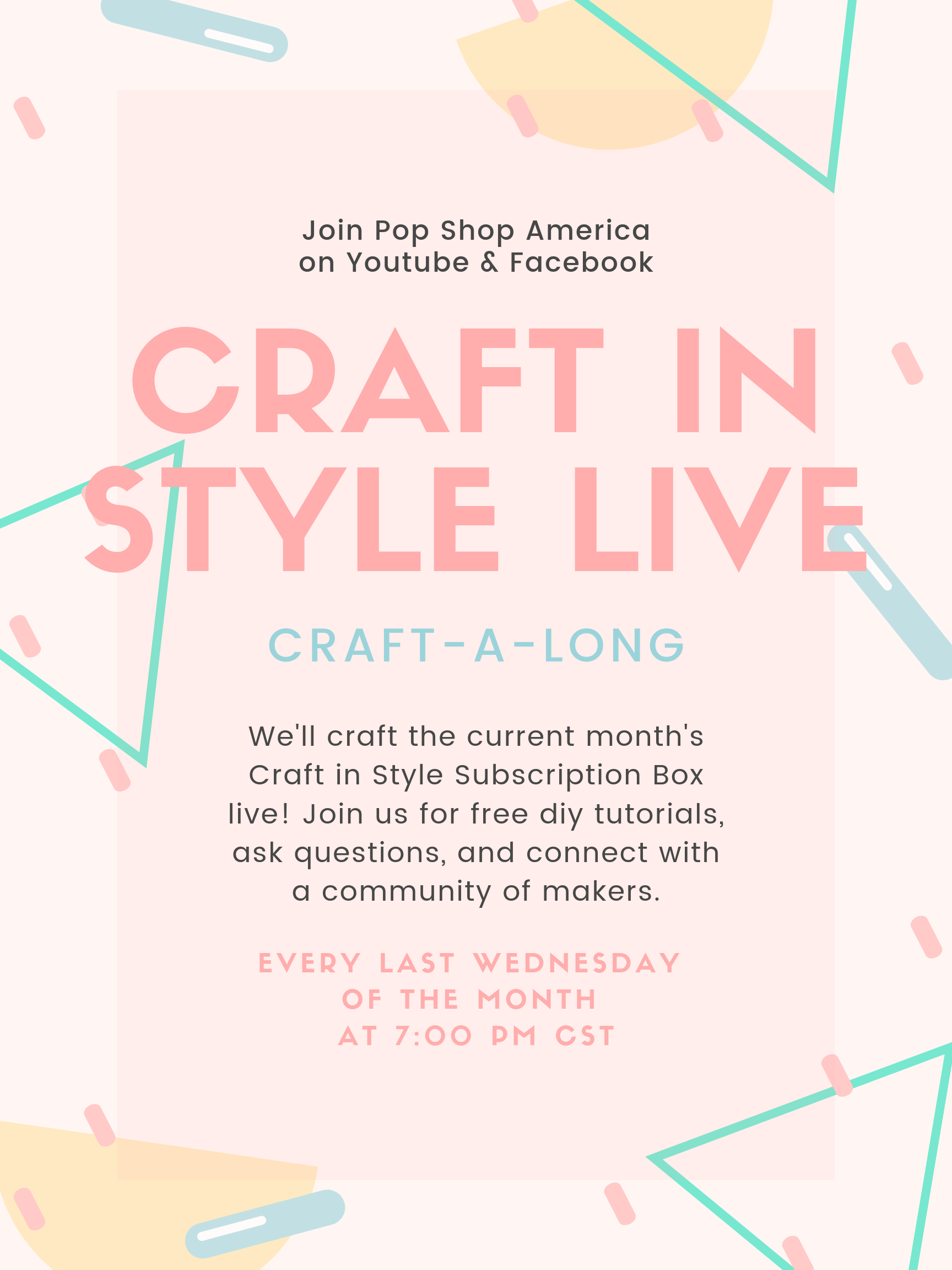 craft in style craft-a-long live pop shop america