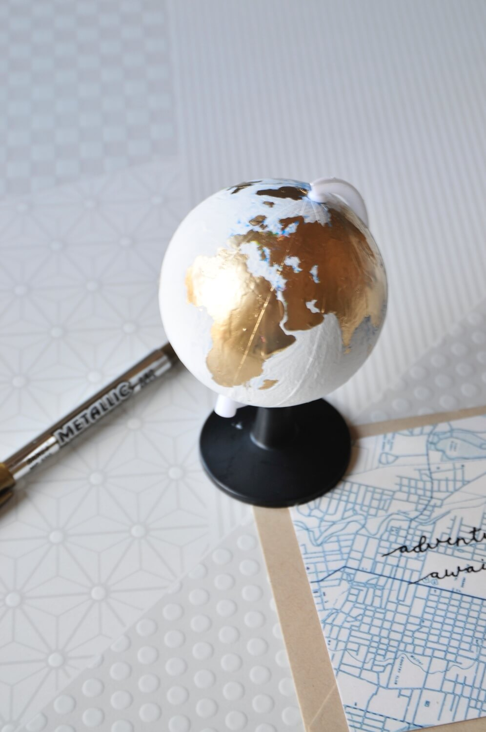 craft in style subscription box tutorial diy hand painted globe