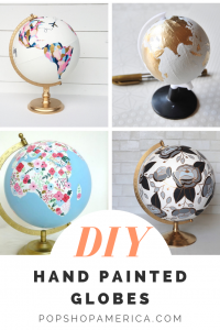diy hand painted globes pop shop america