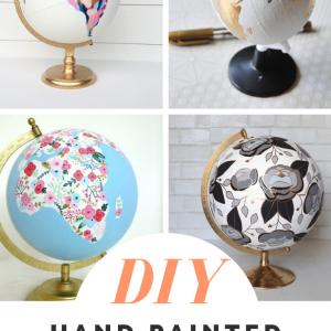 diy hand painted globes pop shop america